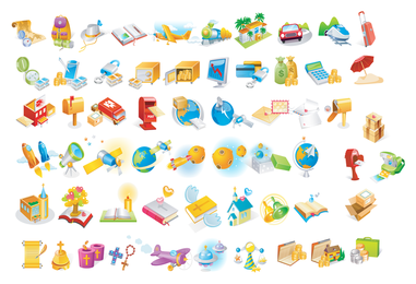 Große verschiedene Icons
