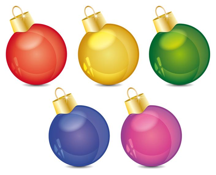 Glossy Christmas Balls