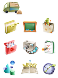 3D misc elements icons