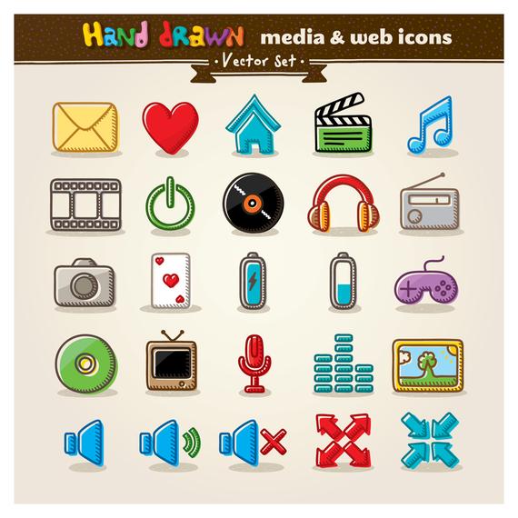 cartoon icon vector 1