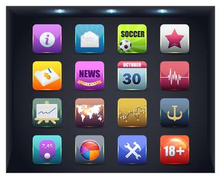 botão de ícone da web 1