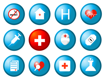Gesundheit kreisförmige Symbol Vektor