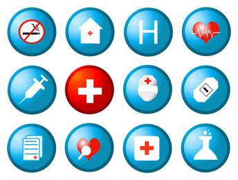 vetor de ícone circular de saúde