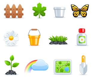Gartenarbeit-Icon-Set