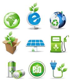 Verde kit ícones de energia