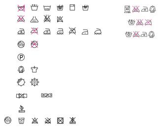 Etiqueta de icono de lavado