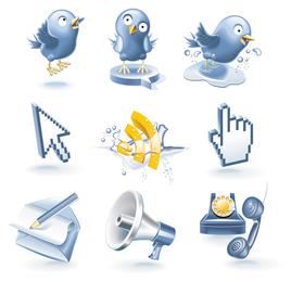 Web practico vector de iconos