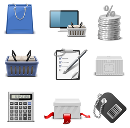 Einkaufsthema-Ikonen-Vektor 2