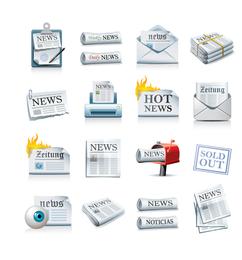 Zeitungs-Ikonen-Vektor