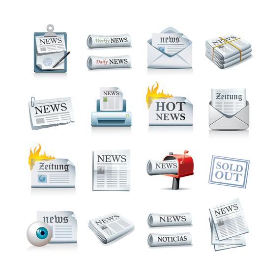 Icono de periódico vector