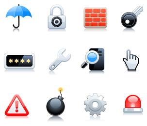conjunto de iconos 3 vector