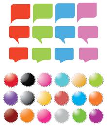icono de diálogo de etiqueta sofisticado