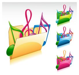 Music folders icon set