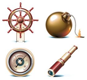 icono de vector de marina
