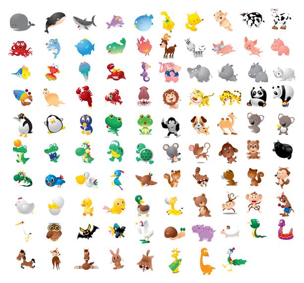 100 simpáticos animales