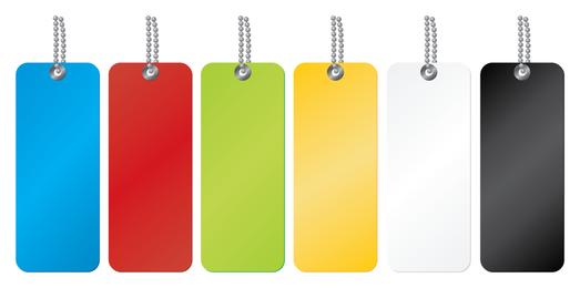 Etiquetas etiquetas conjunto de plantillas de colores