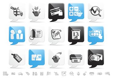 web2.0 style icon vector
