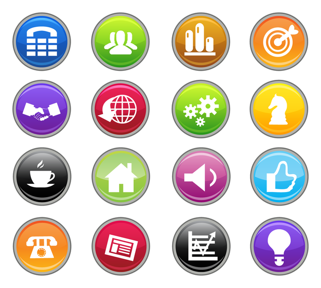 business icons in 3d and in badge form vector download Crayon Clip Art Hundreds Chart Math Puzzle