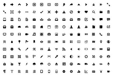 El exquisito vector de iconos 3