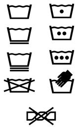 Vector logo lavado icono