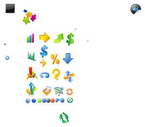 beautiful threedimensional vector icons