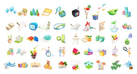 Lindo paquete de iconos vectoriales