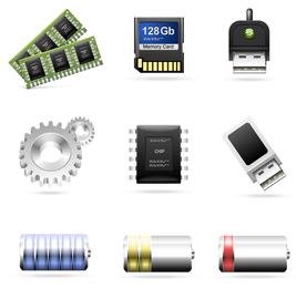 ícone de tema de acessórios de computador