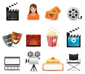 5 icono de película vector