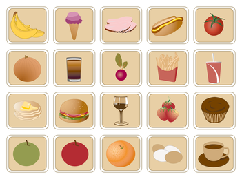 lovely breakfast food icon