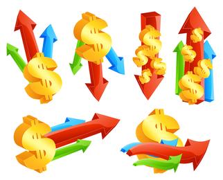 Vector icono de finanzas