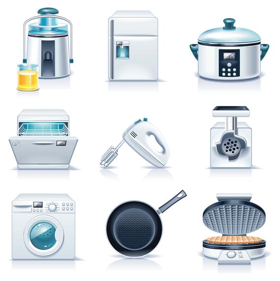Aparatos de cocina de oficina u0026amp descargar vector for Aparatos de cocina