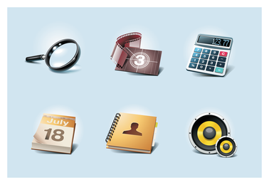 gewöhnliche Icons 2 Vektor