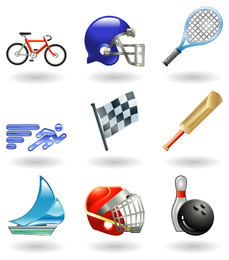 sportsrelated icons 1 vector