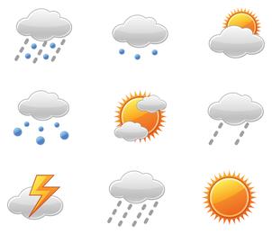 Wetter-Ikonen-Vektor