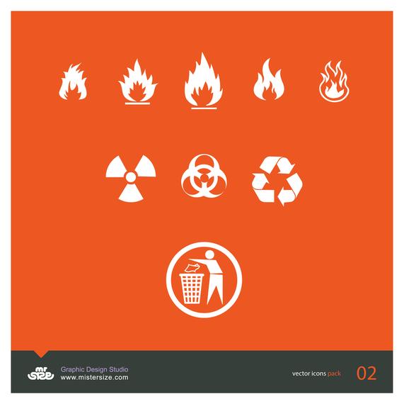 Bio hazard icon set design