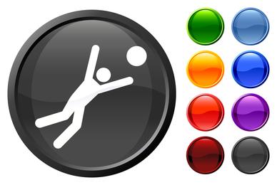 The colorful circular button