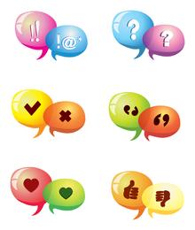 Ícones de discussão