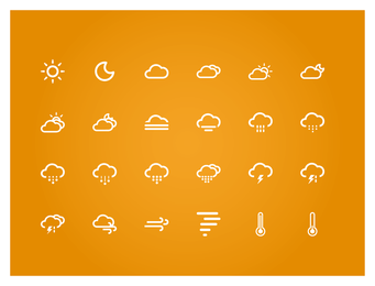 Small fresh weather icon set