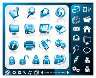 ícone do tema de escritório azul