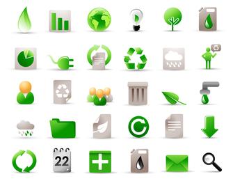 Icono verde Vector 5