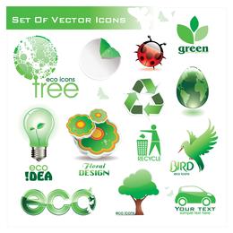 Vetor de ícone verde 6