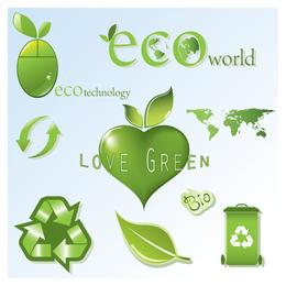 eco theme icon vector