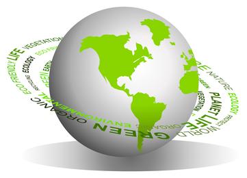 grüne Erde Symbol Vektor