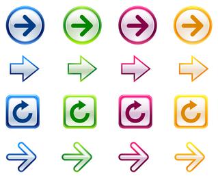 fine arrow icon vector