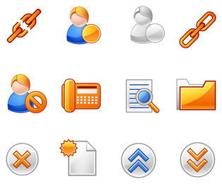 3D business icons set designs