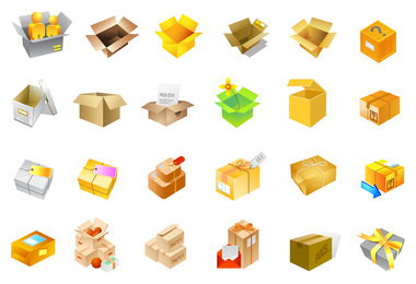 cardboard boxes of vector