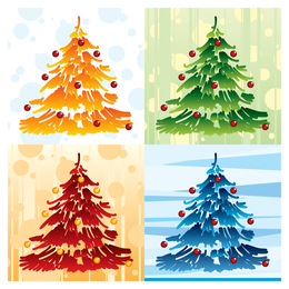 lovely christmas element icons