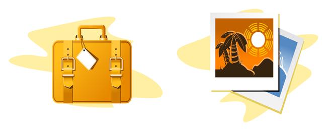 Vector de icono de tema de viaje