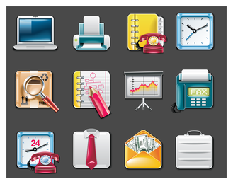 Vektor-Bürobedarf-Symbol