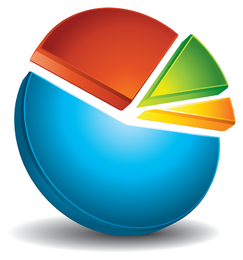 Vetor de ícone de estatísticas práticas